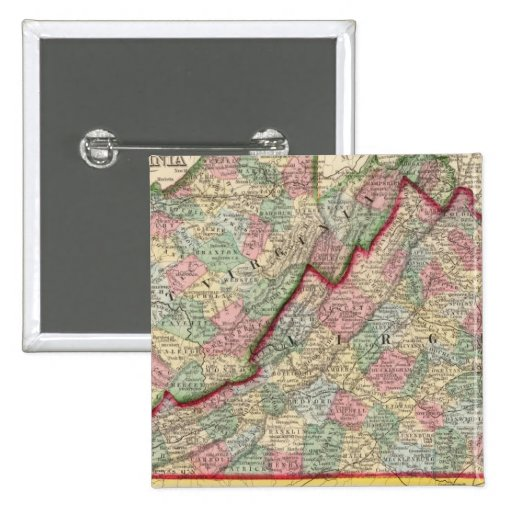 Virginia, mapa de W Virginia de Mitchell Pins