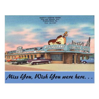 Virginia, Marty's Lobster House, Virginia Beach Postcard