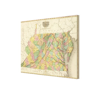 Virginia Maryland and Delaware Stretched Canvas Prints