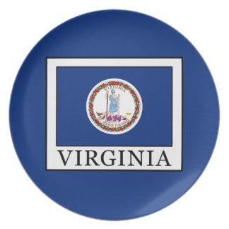Virginia Melamine Plate