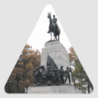 Virginia Memorial at Gettysburg NMP Triangle Stickers
