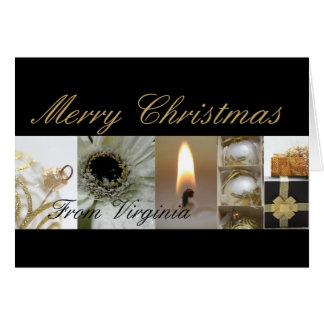 Virginia Merry Christmas Collage Card