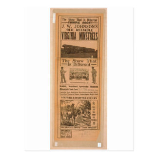 Virginia Ministrels Vintage Theater Postcard