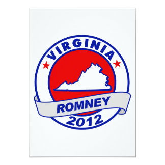 Virginia Mitt Romney 5x7 Paper Invitation Card