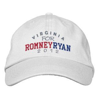 Virginia Mitt Romney Paul Ryan 2012 Embroidered Baseball Cap