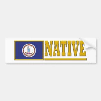 Virginia Native Bumper Sticker