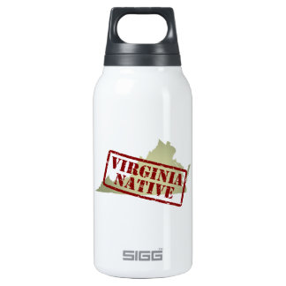 Virginia Native Stamped on Map Insulated Water Bottle