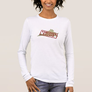 Virginia Native Stamped on Map Long Sleeve T-Shirt