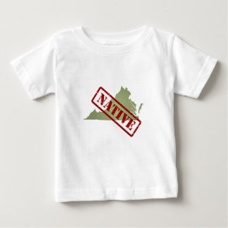 Virginia Native with Virginia Map Baby T-Shirt