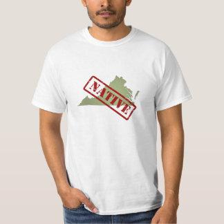 Virginia Native with Virginia Map T-Shirt