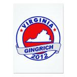 Virginia Newt Gingrich Custom Invite