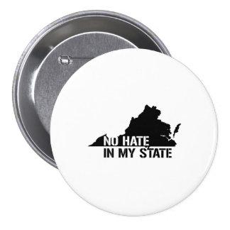 Virginia: Ningún odio en mi estado Pin Redondo 7 Cm
