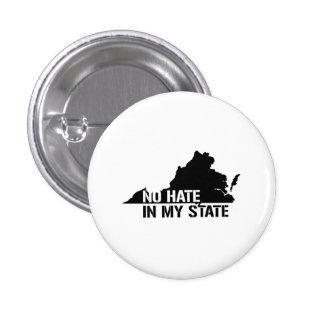 Virginia: Ningún odio en mi estado Pin Redondo 2,5 Cm