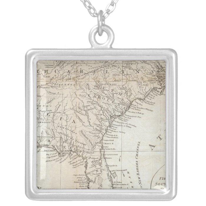 Virginia, North Carolina, South Carolina Silver Plated Necklace