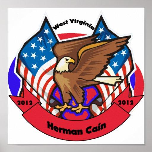 Virginia Occidental 2012 para Herman Caín Póster