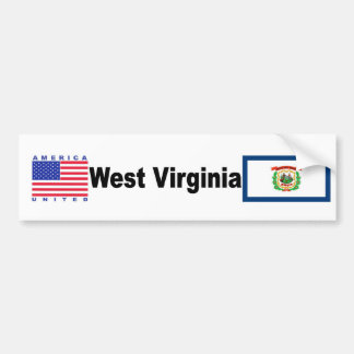 Virginia Occidental Pegatina Para Auto