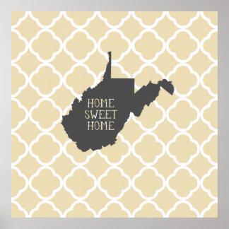 Virginia Occidental casera dulce casera Poster