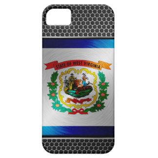 Virginia Occidental cepilló la bandera del metal iPhone 5 Carcasas