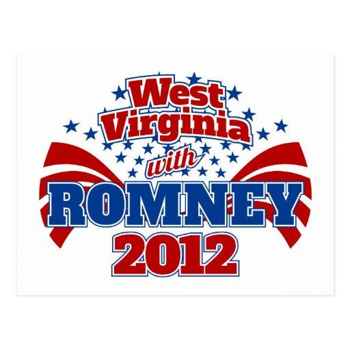 Virginia Occidental con Romney 2012 Postales