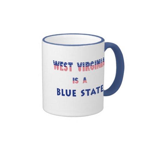 Virginia Occidental es un estado azul Taza A Dos Colores