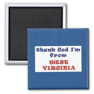 Virginia Occidental Imán Cuadrado