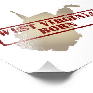 Virginia Occidental llevada - sello en mapa Foto