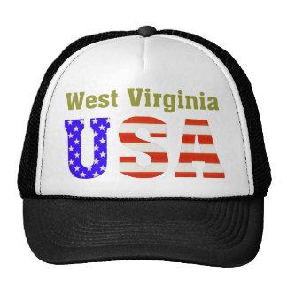¡Virginia Occidental los E.E.U.U.! Gorras De Camionero