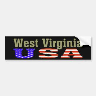 ¡Virginia Occidental los E.E.U.U.! Pegatina para e Pegatina Para Auto