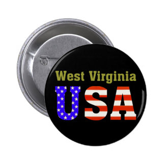 ¡Virginia Occidental los E.E.U.U.! Pin Redondo De 2 Pulgadas