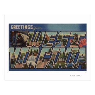 Virginia Occidental (minero de carbón) - escenas Postal