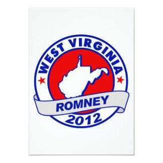 Virginia Occidental Mitt Romney Invitación 12,7 X 17,8 Cm
