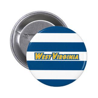 Virginia Occidental - oro y azul Pin Redondo 5 Cm