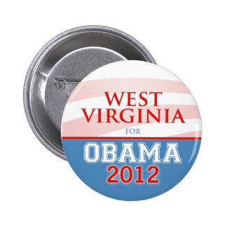 VIRGINIA OCCIDENTAL para Obama 2012 Pin Redondo 5 Cm