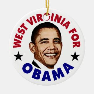 Virginia Occidental para Obama Ornaments Para Arbol De Navidad