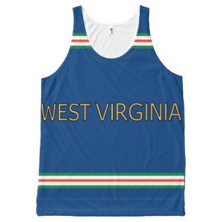 Virginia Occidental por todo el tanque unisex Playera De Tirantes Con Estampado Integral