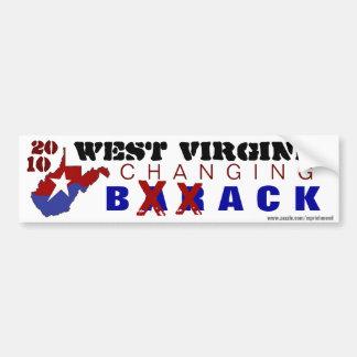 Virginia Occidental que cambia detrás 2010 Pegatina Para Auto