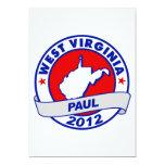 Virginia Occidental Ron Paul Invitación 12,7 X 17,8 Cm