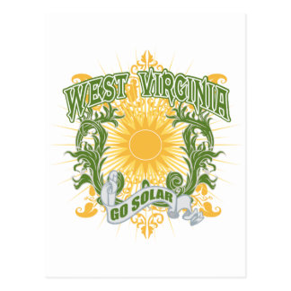 Virginia Occidental solar Tarjetas Postales