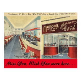 Virginia Occidental, tienda de la lechería de Tarjetas Postales