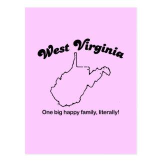 Virginia Occidental - una familia grande literalme Postal