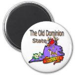 Virginia Old Dominion State Hound Dogwood Cardinal Fridge Magnet