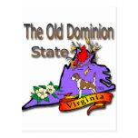 Virginia Old Dominion State Hound Dogwood Cardinal Postcards