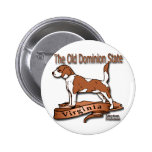 Virginia Old Domion State Dog Button