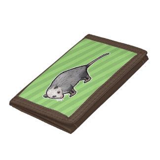 Virginia Opossum Tri-fold Wallets