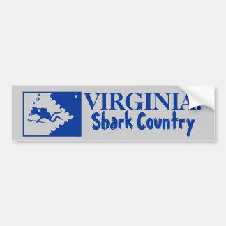 Virginia: País del tiburón Pegatina Para Auto