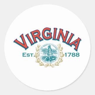 Virginia Pegatinas Redondas