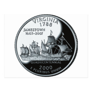 Virginia Quarter Postcard