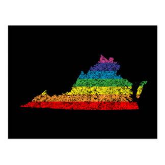 virginia rainbow postcard