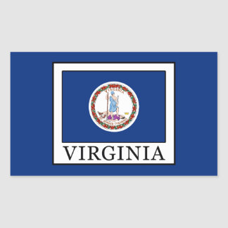Virginia Rectangular Sticker