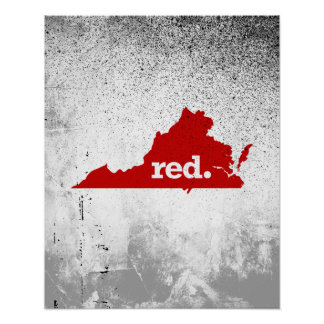 VIRGINIA RED STATE POSTER